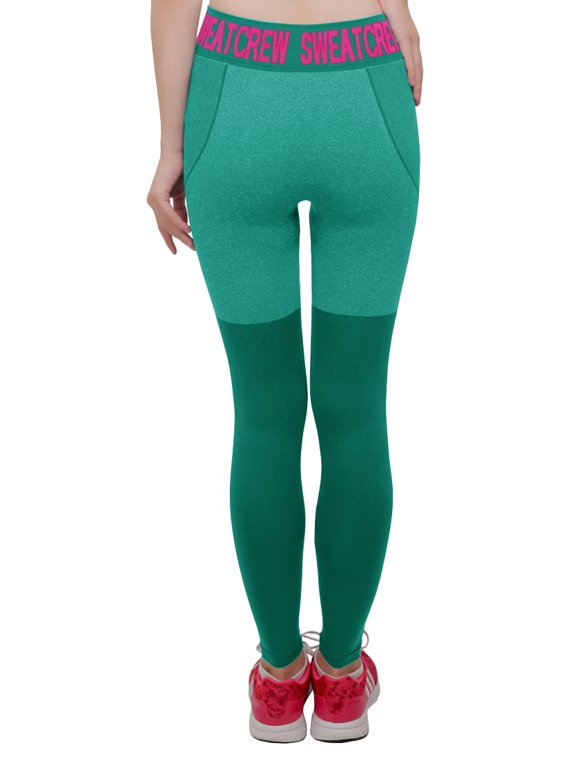 d457e2156950 Buy Green Printed Cotton Legging by C9 - Online shopping for Leggings in  India