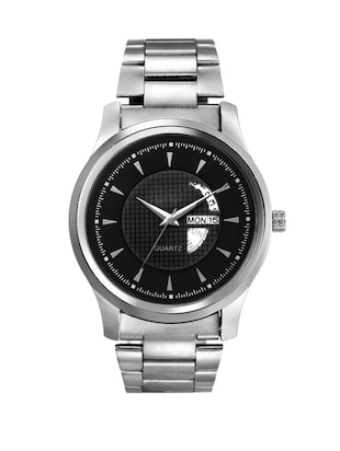 round dail stainless steel strap analog watch -  online shopping for Analog Watches