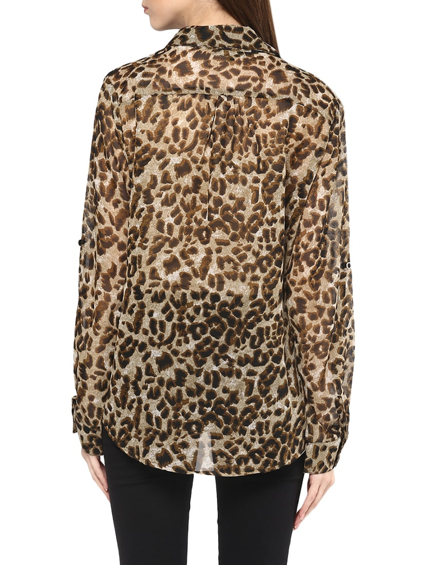 e95dcf0c1511 Buy Brown Animal Printed Georgette Regular Shirt for Women from Mayra for  ₹435 at 56% off