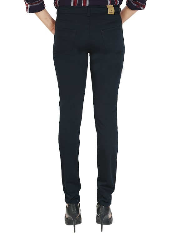 Buy Navy Blue Cotton Flat Front Trouser by Airwalk - Online shopping for  Trousers in India  d8431ceae63e