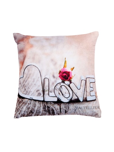 Love Print For  Your Valentine Cushion Cover . - 12854768 - Standard Image - 1