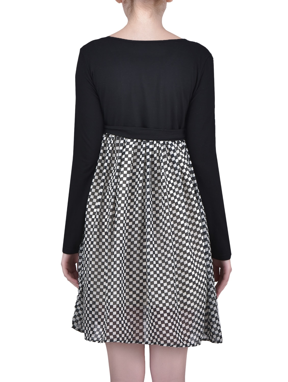 421973e5c37 Radiation Safe Black and White Checker Print Maternity Dress. Brand  House  Of Napius