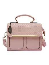 pink leatherette sling bag -  online shopping for sling bags