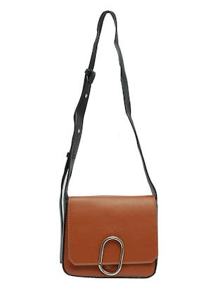 brown leatherette sling bag - 12883069 - Standard Image - 4