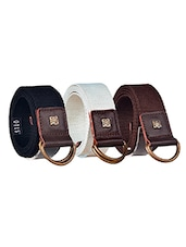 Pack Of 3 Multi Colored Canvas Belt - By - 12890415