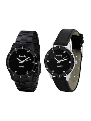 Howdy Beautiful Combo Of Black Analog Watch -  online shopping for Analog watches