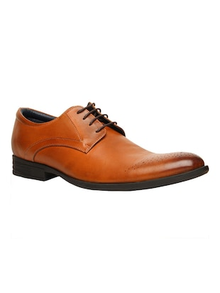 tan Leather lace up derby -  online shopping for Derbies