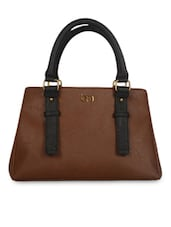 Roasted Brown Leatherette Tote Handbag - By