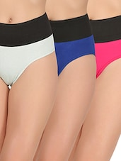 set of 3 multicolored cotton shaper brief -  online shopping for shapewear