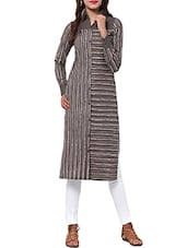 brown cotton straight kurta -  online shopping for kurtas
