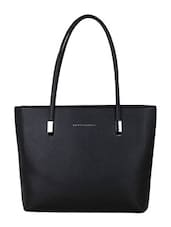 black leatherette handbag -  online shopping for handbags