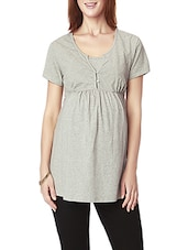 grey cotton maternity wear -  online shopping for maternity wear