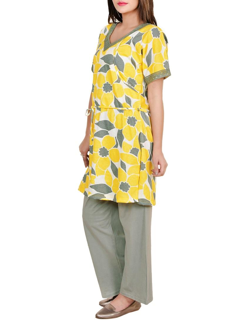 7115705eca Buy Yellow Cotton Pyjama Nightwear Set by 9teenagain - Online shopping for  Nightwear Sets in India
