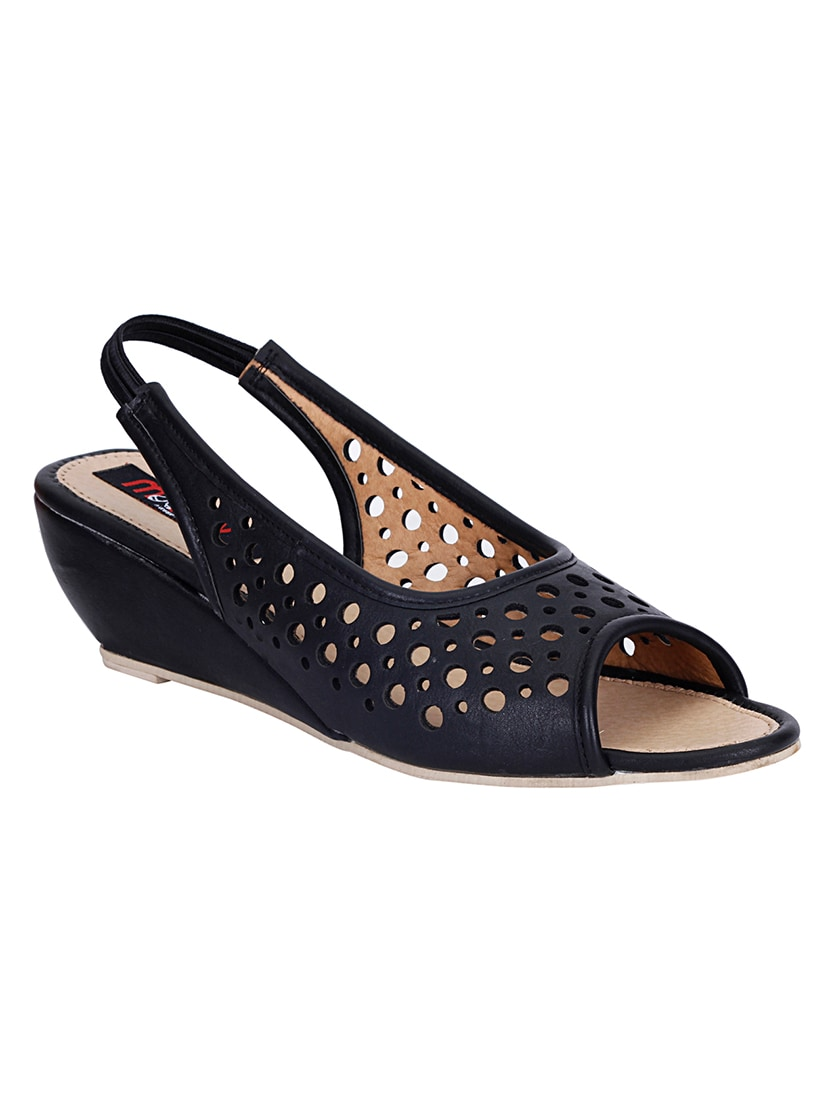 Buy Mappy Women s Black Wedges by Mappy - Online shopping for Wedges in  India  62f9d9b249