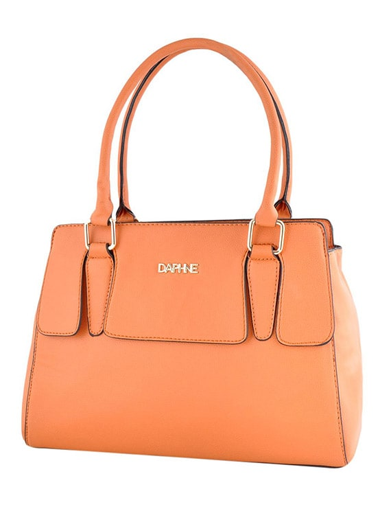 0ac4bb59f261 Buy Orange Leatherette Handbag by Daphne - Online shopping for Handbags in  India