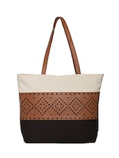 beige canvas regular tote -  online shopping for Totes