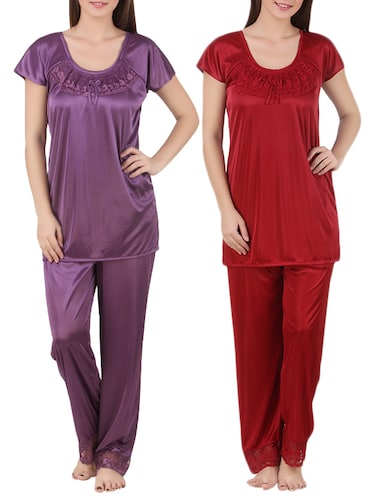 ab2652de27 Buy Black Satin Sleepshirts   Nighty by Keoti - Online shopping for ...