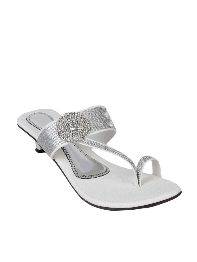 Buy online Silver One Toe Sandal from