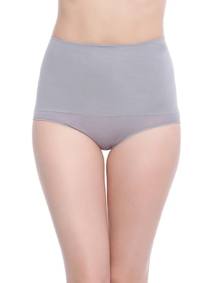 grey cotton high waist hipster panty -  online shopping for panty