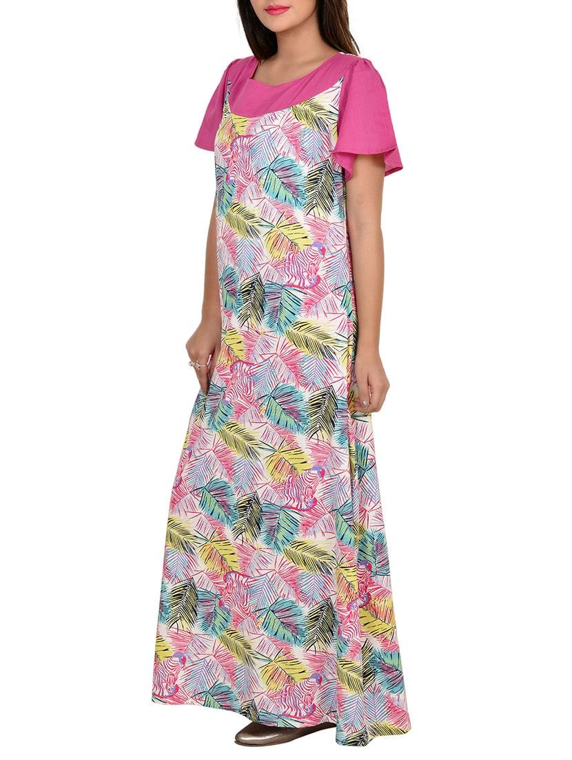 ... Buy Pink Cotton Nighty by 9teenagain - Online shopping for Sleepshirts    Nighties in India ... 439c040fb