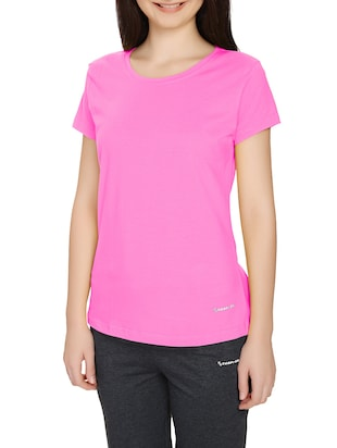 Pink Solid Tshirt -  online shopping for Tees