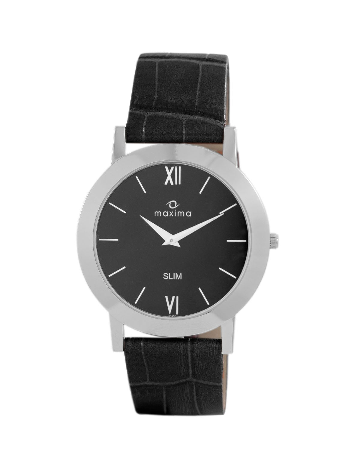 watches black hover by image this to watch explore over leather look silver men zoom buy online for shopping analog maxima