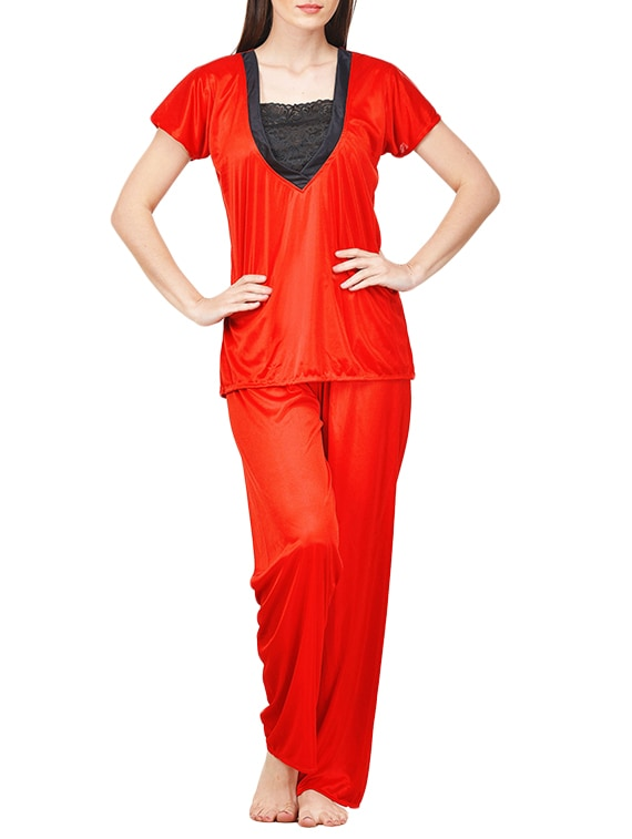 78c7274a7be Buy Red Satin Nightwear Set for Women from Boosah for ₹343 at 47% off