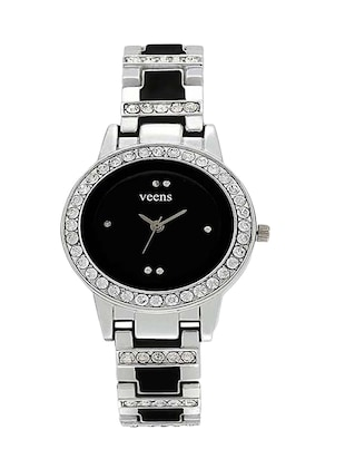 Round Shape Black Dial Analog Watch For Women & Girl -  online shopping for Wrist watches