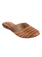 brown Cut Work Slip On Jutis -  online shopping for Jutis & Mojaris