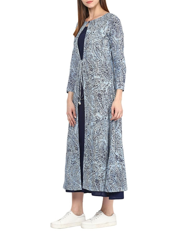 536f3e90b3c9 Buy Navy Blue Cotton Maxi Dress by Jaipurkurti - Online shopping for Dresses  in India