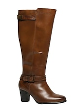 tan knee length  boot -  online shopping for boots