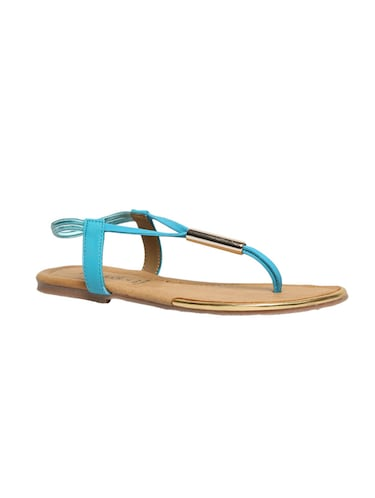 blue leatherette back strap sandals - 12954460 - Standard Image - 1