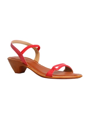 red back strap sandal -  online shopping for sandals