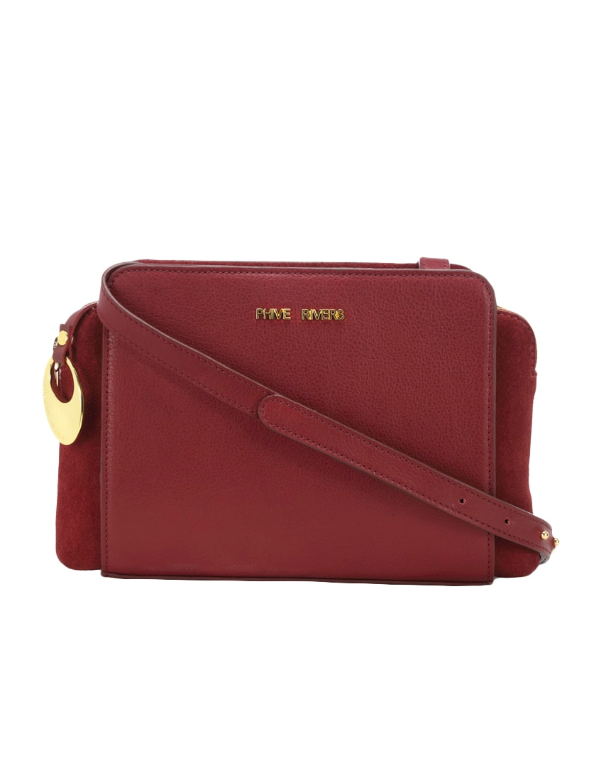 Buy Red Leather Sling Bag by Phive Rivers - Online shopping for Sling Bags  in India  e5e4c80fac281