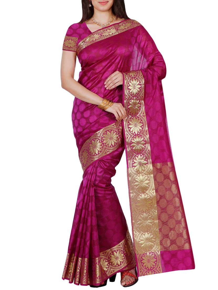 7d0db8f2b376a ... Pink Mysore Silk Saree with blouse tn2. Explore this look Hover over  image to zoom