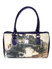 Blue Printed Duffle Bag - By