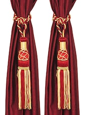 Handloom Hub Curtain Tessel-Set of 2 -  online shopping for Tiebacks