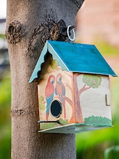 Multi-coloured Galvanized Iron Humming Bird House - By