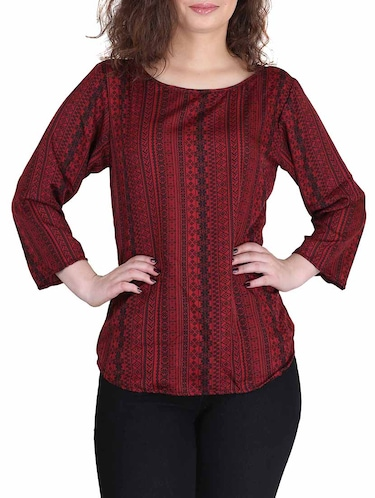 red crepe regular top - 13013799 - Standard Image - 1
