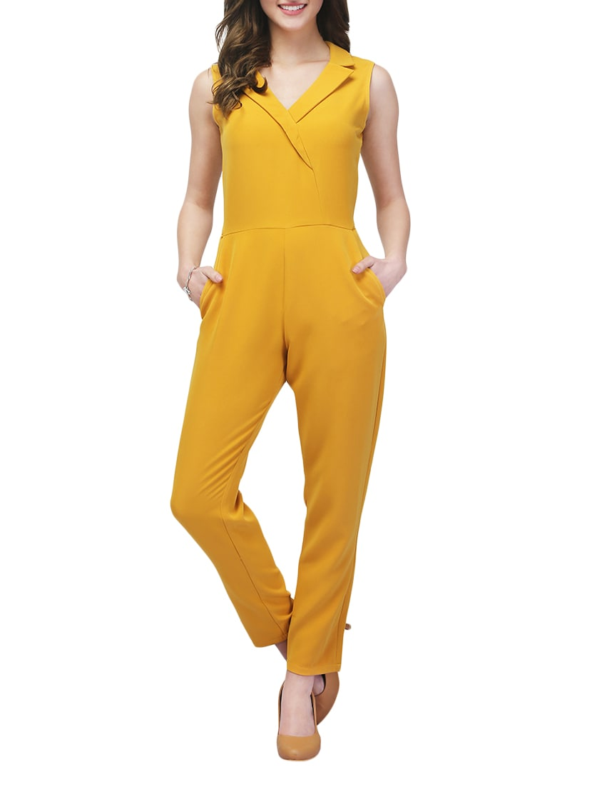 7043f7ed156 Buy Yellow Polyester Full Leg Jumpsuit for Women from Eavan for ₹1698 at  32% off