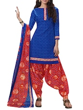 blue patiyala suits dress material -  online shopping for Dress Material