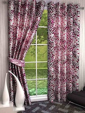 Shubh Collection Of Adorable Leafy Print Polyster Door Curtains - Set Of 2 - By