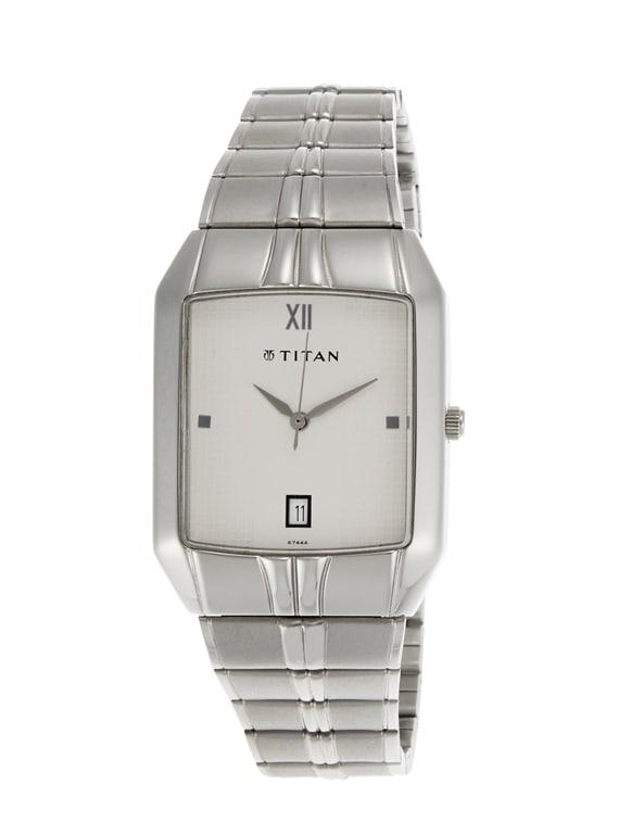 titan karishma multi function analog white dial men's watch   ne9264sm01a