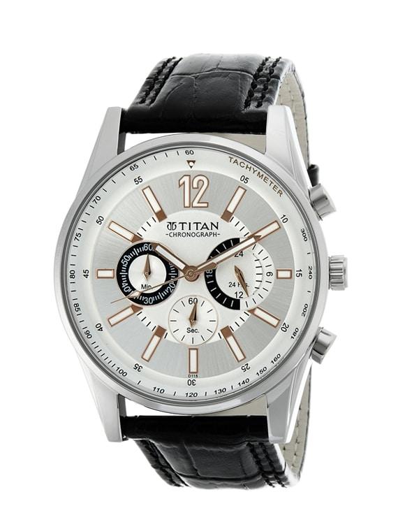 titan octane chronograph silver dial chronograph men's watch   ne9322sl01a