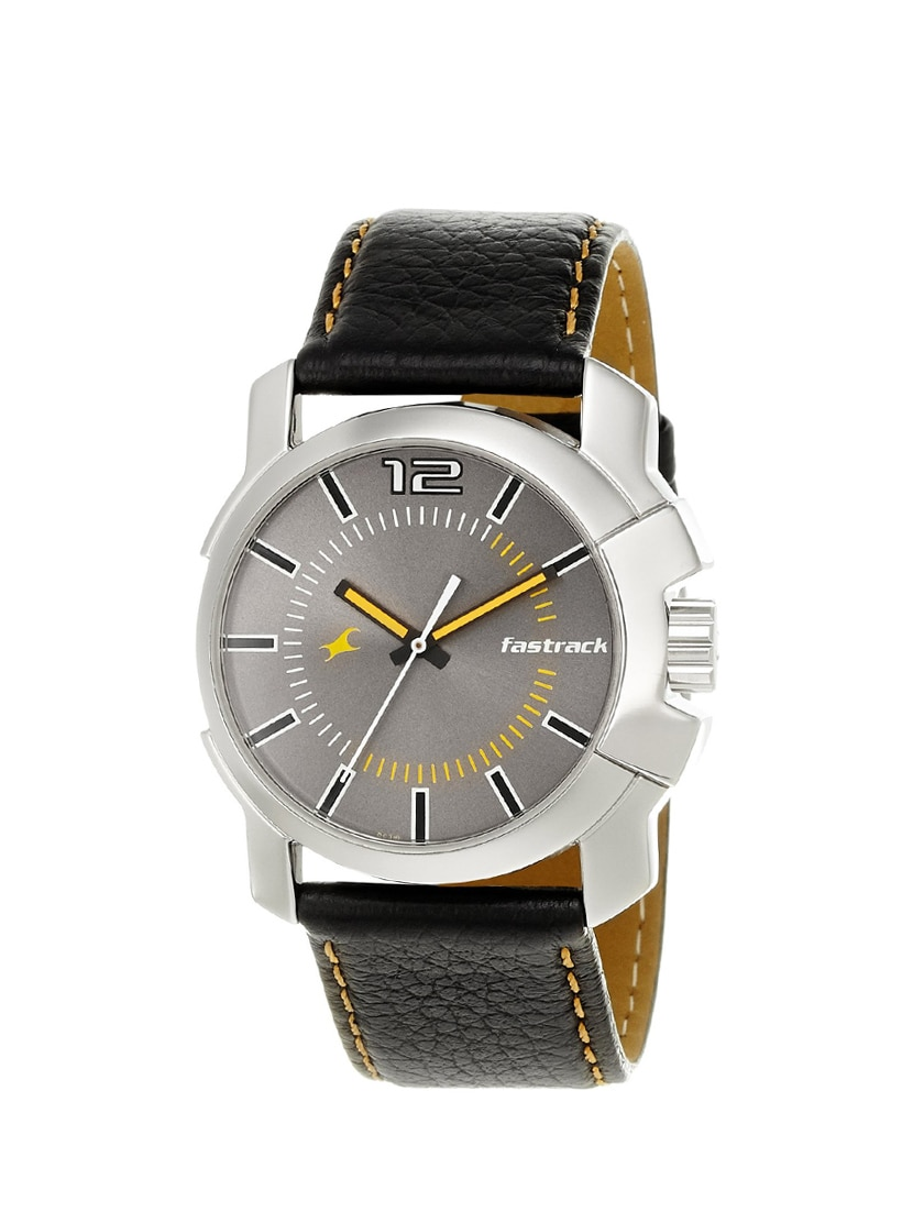 fastrack midnight party analog grey dial men's watch   3097sl01