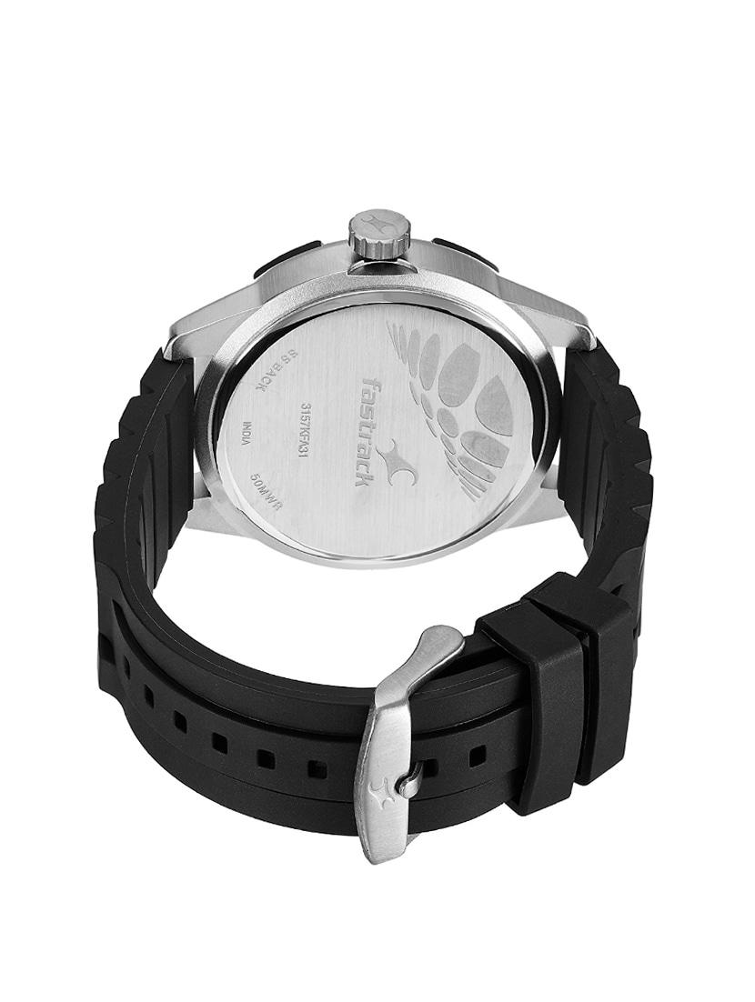 ec8188a59af Buy Fastrack Analog Black Dial Men s Watch - 3157kp01 for Men from Fastrack  for ₹2995 at 0% off