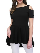 black spandex peplum top -  online shopping for Tops