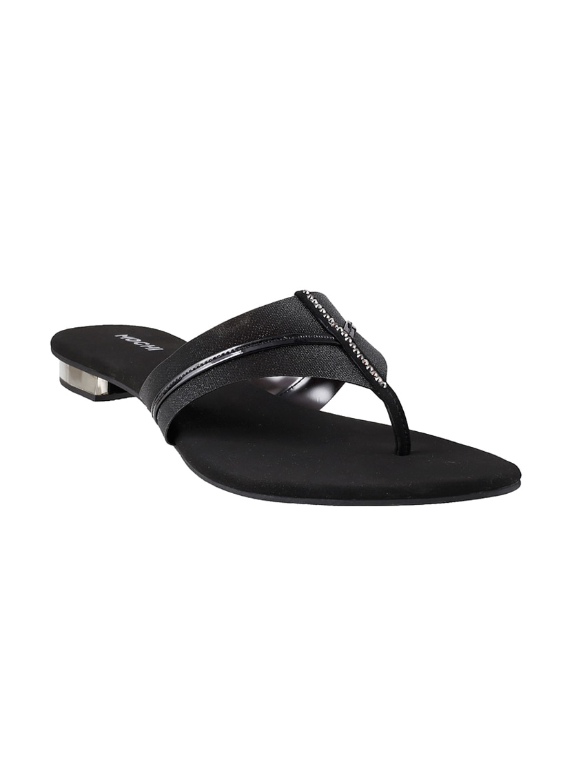 3c378d39df060d Buy Black Open Thong Sandal for Women from Mochi for ₹1390 at 0% off