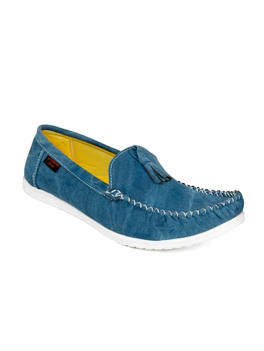8a630543fc6 Buy Turquoise Blue Leatherette Slip On Loafer for Men from Quarks ...