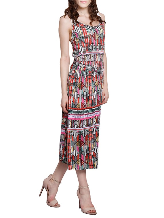 7e6ea9c7273a Buy Multicolored Cotton Midi Dress by Amari West - Online shopping for  Dresses in India